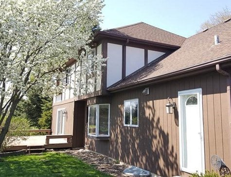 siding installation Naperville IL wooden house